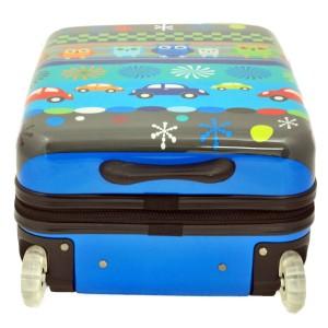 """Valise enfant """"Chouettes + voitures"""" Bleu  50 cm 2 roues de la marque SNOWBALL"""