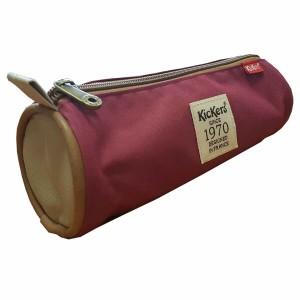 Trousse ronde Kickers 22 * 7,5 cm Prune-Beige