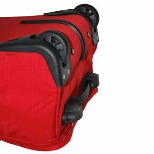 Valise à roulettes pliable 51cm Benzi - Rouge