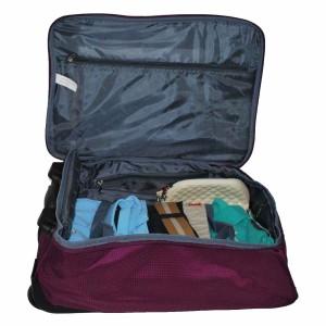 Valise à roulettes pliable 51cm Benzi - Violet