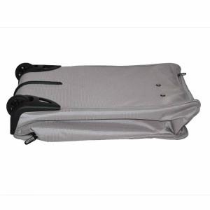 Valise à roulettes pliable 51cm Benzi - Gris Argent