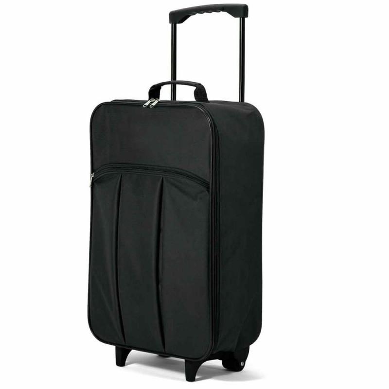 Valise à roulettes pliable légère 51cm Benzi - Noir