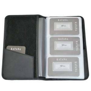 Porte-cartes en cuir de vachette lisse - Noir