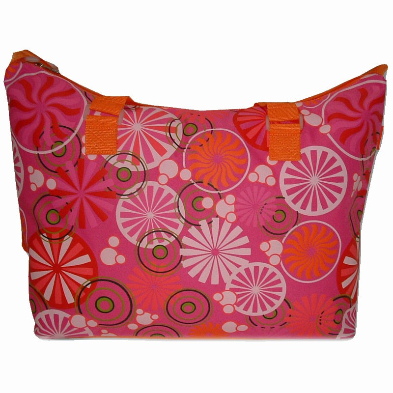 "Sac de plage BENZI ""Rosaces"" - rose/orange"
