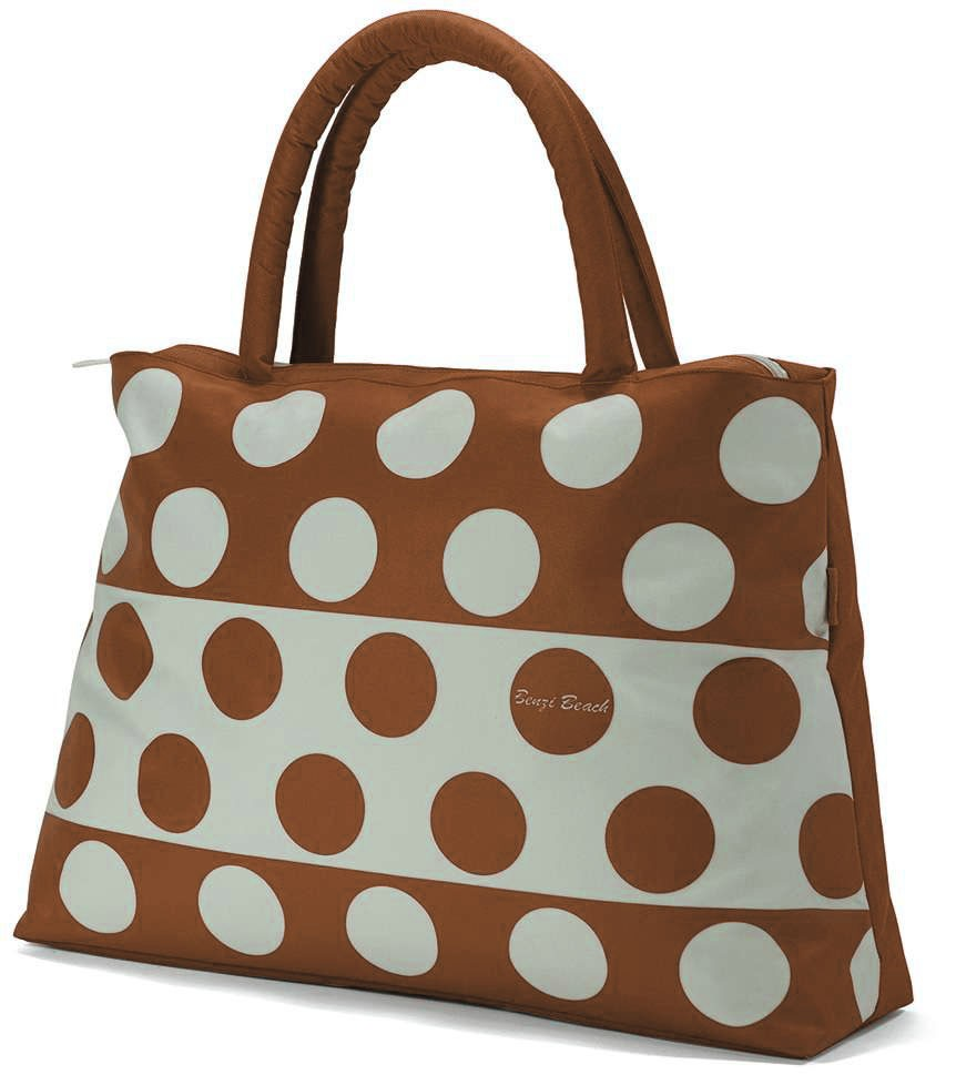 "Sac shopping BENZI ""Cercles"" - marron"