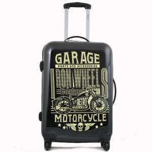 Valise 60 cm 4 roues de la marque BENZI imprimé motif Motorcycle.