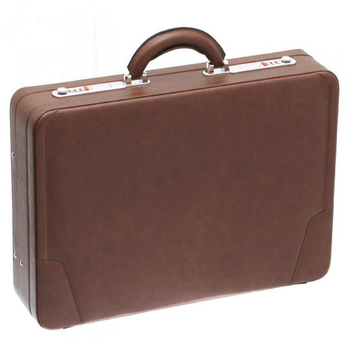 Attaché-Case façon cuir Davidt's - Marron