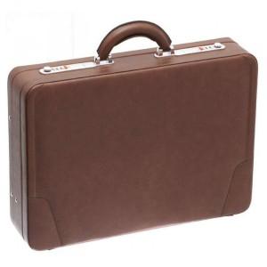 Attaché-Case façon cuir Davidt's - Marron