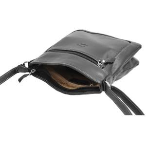 Sac porté croisé en cuir Katana - Noir