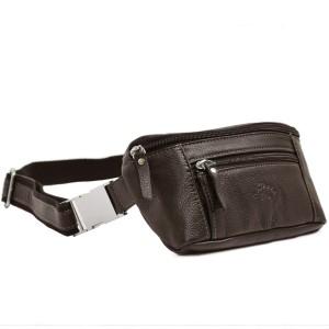 Sac ceinture en cuir de vachette Katana - Marron