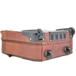 Pilot-case Cuir 2 roues KATANA - Marron Gold