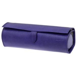 Trousse à bijoux ronde Davidt's Euclide violet - fermée