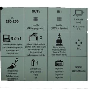 Cartable souple porte-ordinateur Davidt's - noir