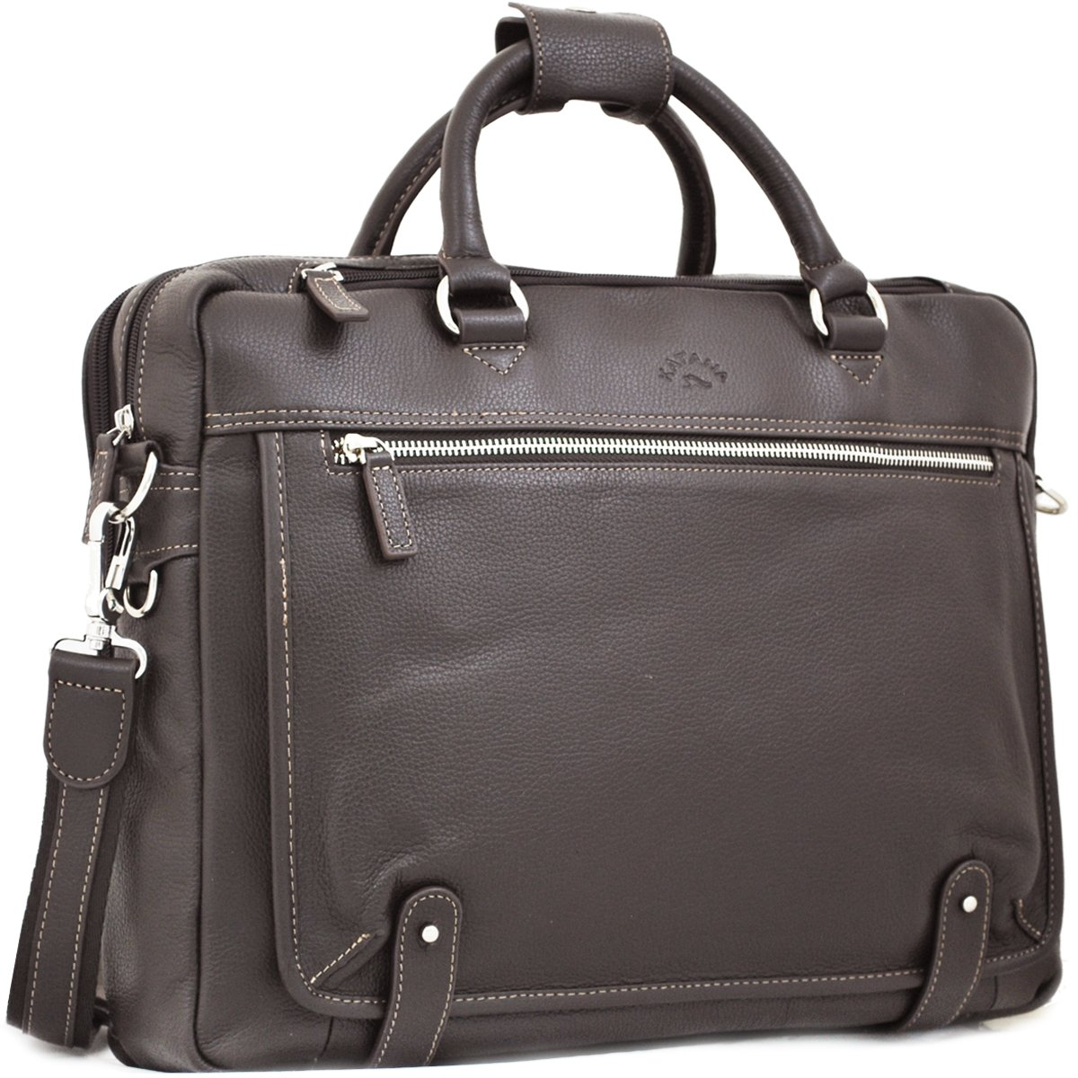 "Cartable Cuir Porte-ordinateur 15"" KATANA - Marron"