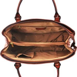 sac main en cuir marron pour femme katana. Black Bedroom Furniture Sets. Home Design Ideas