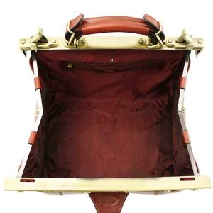 Sac à main Doctor Bag en cuir KATANA - Marron