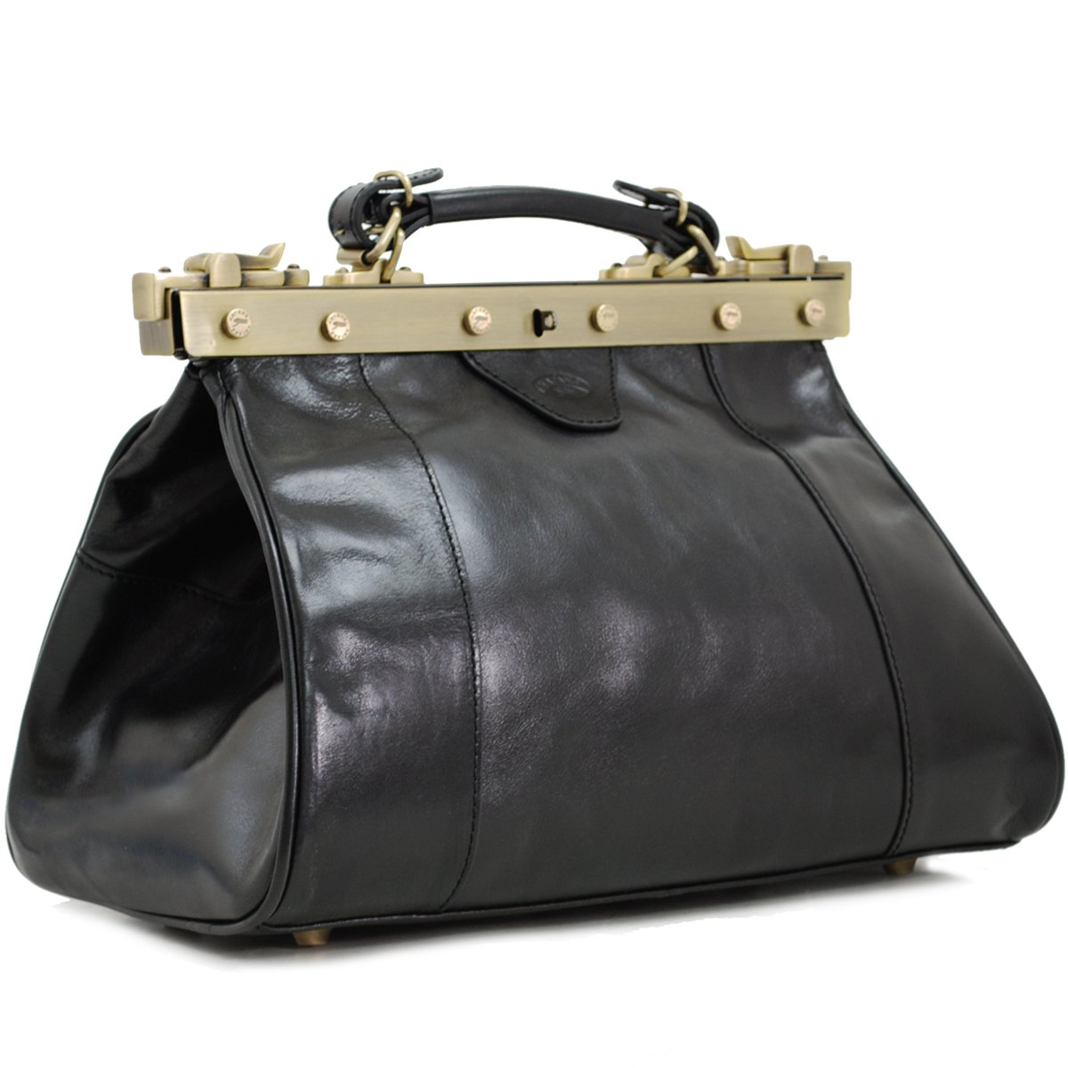 Sac à main Doctor Bag en Cuir KATANA - Noir