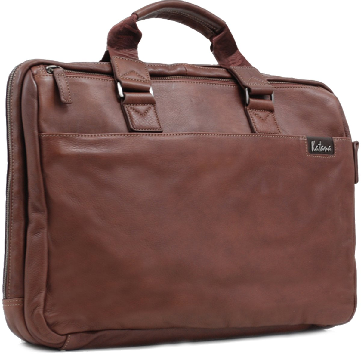 Cartable souple Cuir de vachette - Marron