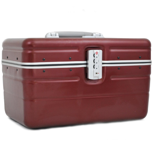 """Vanity case rigide DAVIDTS """"Betty"""" rouge bordeaux en polycarbonate léger robuste qualité supérieure pas cher"""