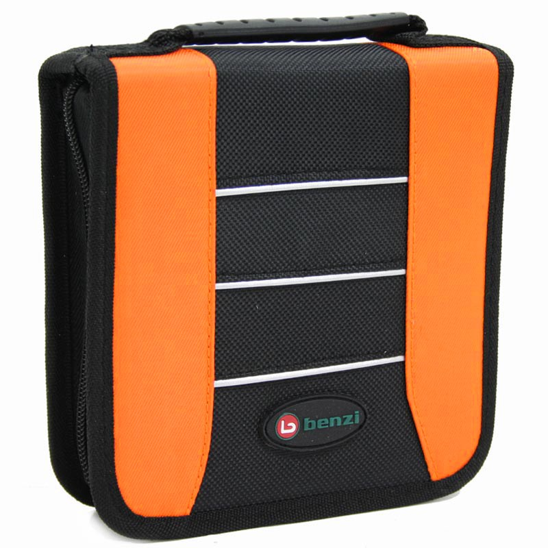 Porte 24 CD/DVD  orange-noir