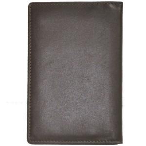 Porte-passeport en cuir de vachette lisse - Marron
