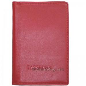 Porte-passeport en cuir de...