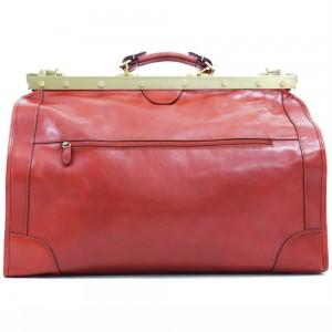 Sac de voyage Doctor Bag en Cuir de vachette - Rouge