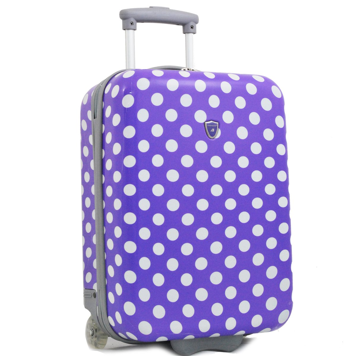 Valise cabine 2 roues MADISSON Pois - Violet