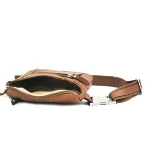 Sac ceinture en cuir de vachette Katana - Marron Gold