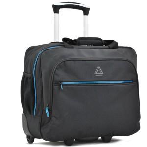 Pilot-case textile 2 roues RAPID AIR DAVIDT'S - Noir / Bleu