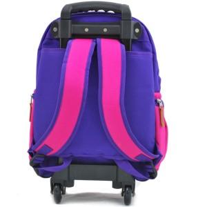 Sac à dos à roulettes Fille SNOWBALL - Violet / Rose