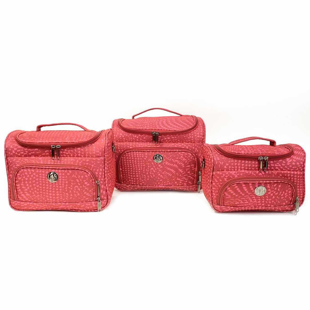 Lot de 3 vanity KINSTON - rose