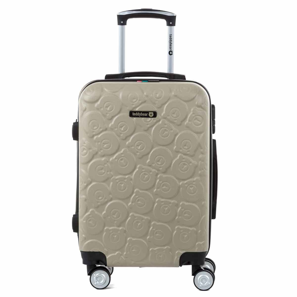 Valise cabine trolley 55 cm en ABS Gold - TEDDY BEAR