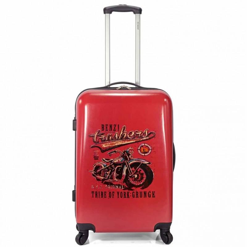 Valise cabine 4 roues motor bike design rouge de la marque Benzi