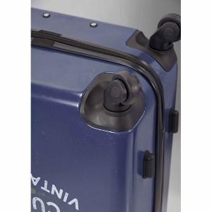 Valise cabine 4 roues motor wording design Bleu de la marque Benzi