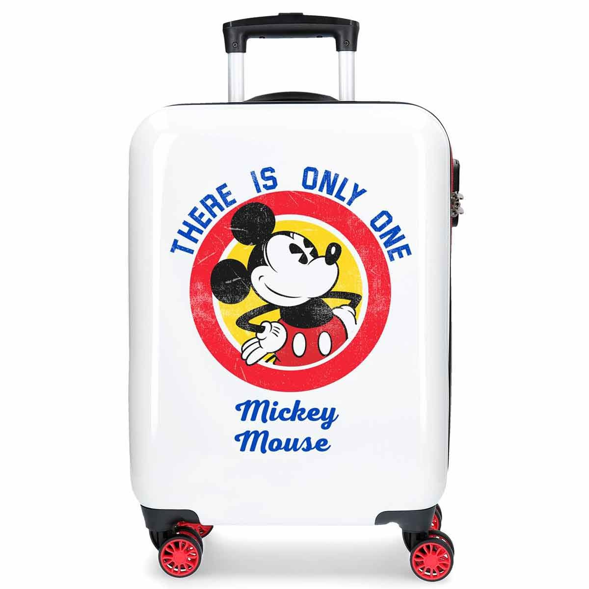 Valise cabine 4 roues en ABS Mickey All Started de DISNEY.