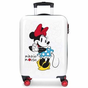 Valise cabine 4 roues en ABS Minnie Mouse DISNEY.