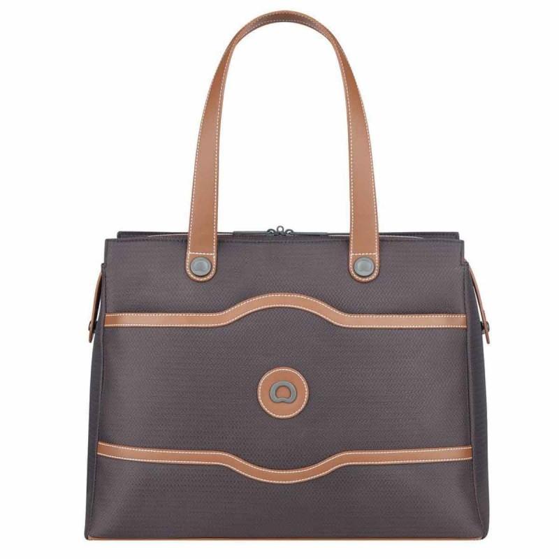 Sac shopping femme DELSEY de la collection Chatelet Air Soft coloris Chocolat.