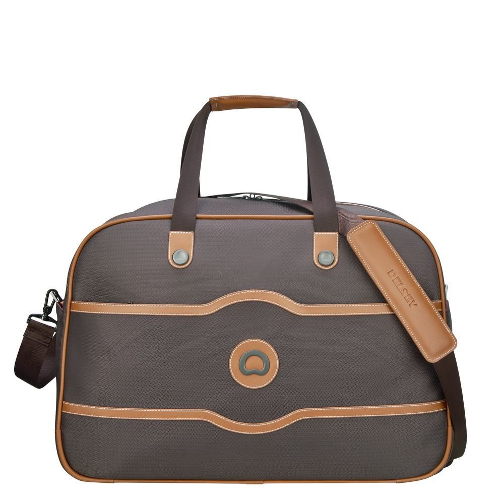 Sac de voyage cabine DELSEY de la collection Chatelet Air Soft coloris Chocolat.