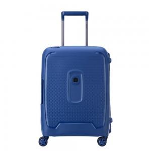 Valise cabine slim Bleu 4 roues doubles 55 cm -collection MONCEY de DELSEY.