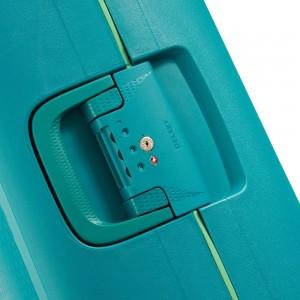 Valise cabine slim Vert Méridien 4 roues doubles 55 cm -collection MONCEY de DELSEY.