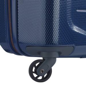 Valise trolley cabine 4 roues 55 cm de Delsey -TOLIARA Bleu nuit.
