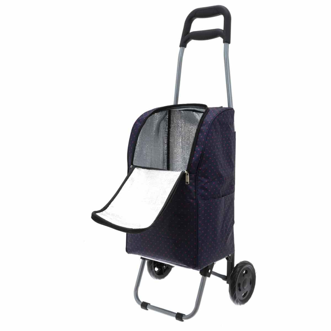 """Chariot de marché avec poche isotherme TRIOKY """"Flow"""" - Bleu"""
