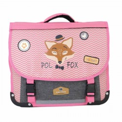 "Cartable réversible POL FOX 38cm ""The Coolest"""