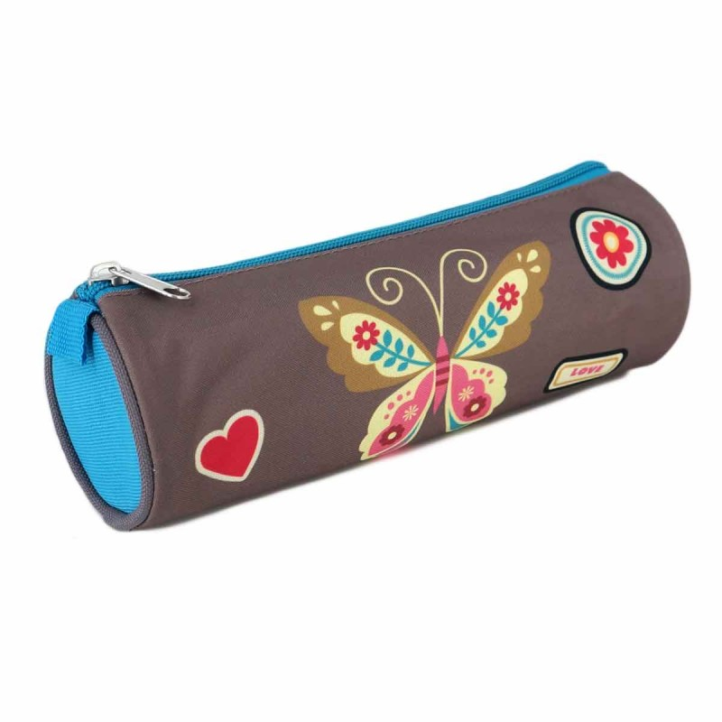 Trousse ronde POL BUTTERFLY.