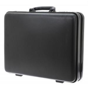 Attaché-case rigide en ABS noir de la marque DAVIDT'S.