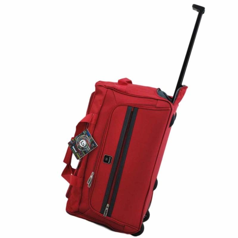 Sac de voyage à roulettes BENZI 55 cm - rouge