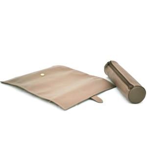 Porte-bijoux rouleau cuir Nappa - Beige