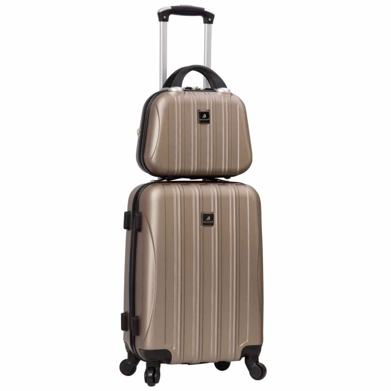 Valise cabine 4 roues + vanity Madisson - Taupe