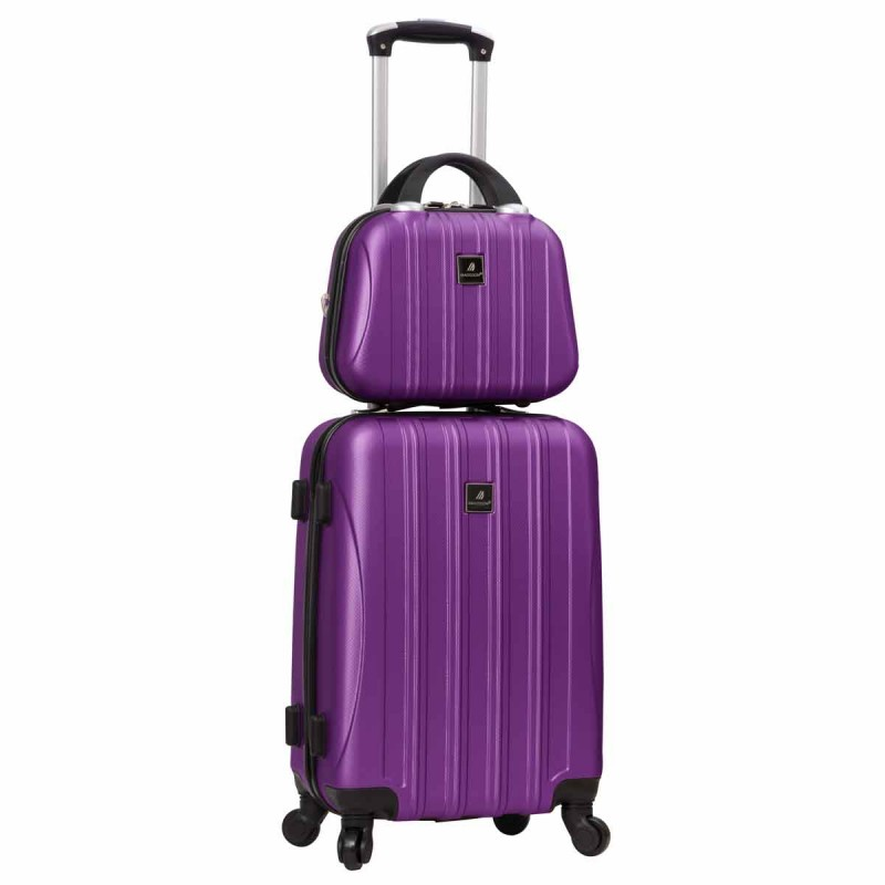 Valise cabine 4 roues + vanity Madisson - Violet